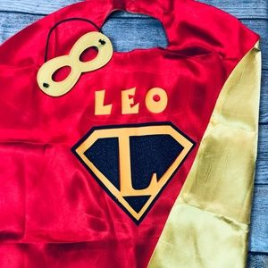 Other - Toddler Personalized Superhero Cape & Mask